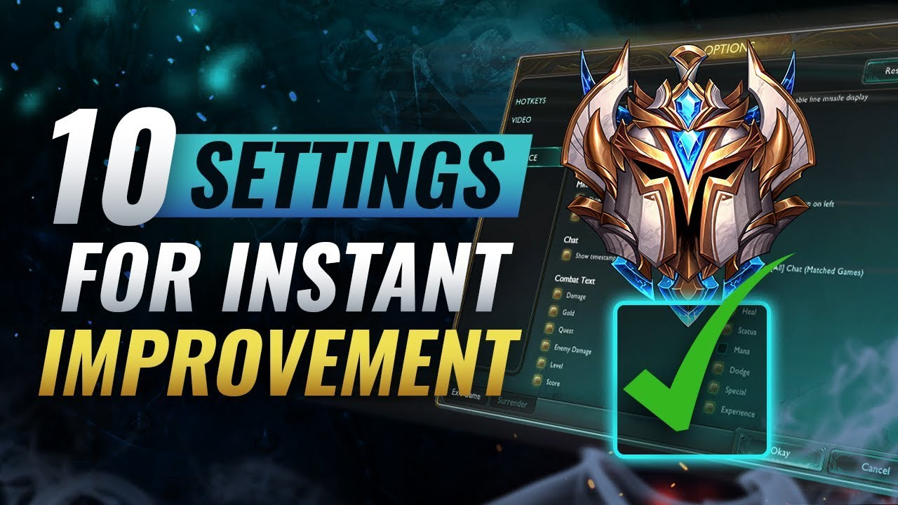 INSTANTLY Increase Your Winrate With These 10 Settings - League of Legends