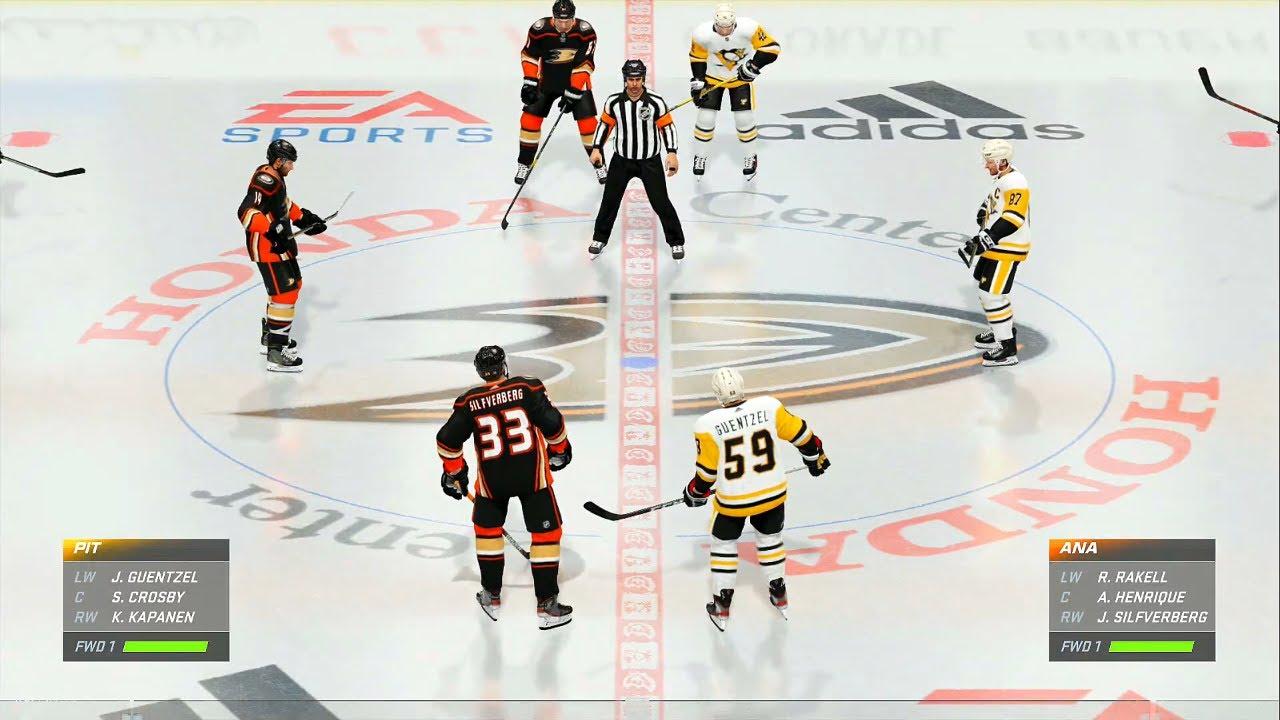 NHL 21 Gameplay Anaheim Ducks vs Pittsburgh Penguins