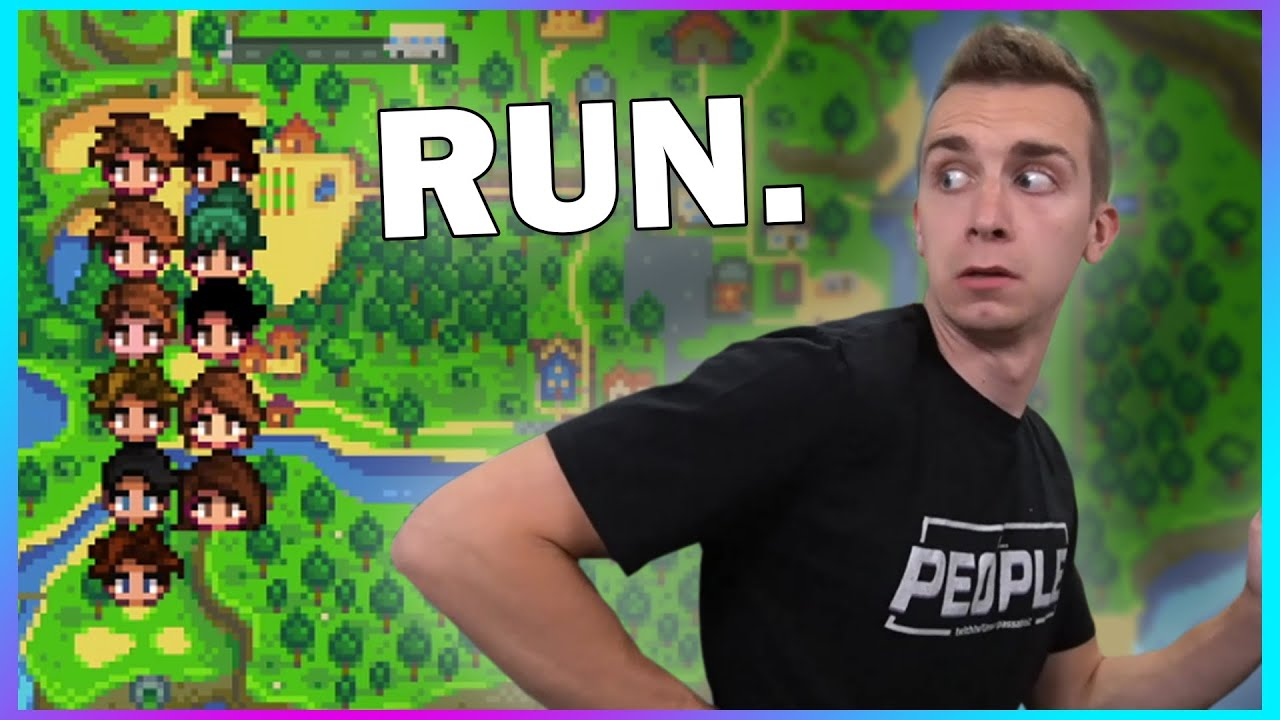 Escaping a MOB on Stardew Valley