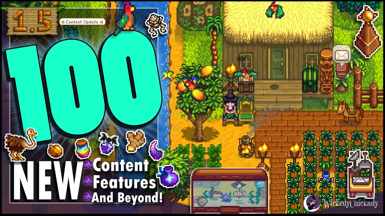 100 NEW Content, Features and Beyond Showcase   Stardew Valley 1.5 Update   New Quests   New World