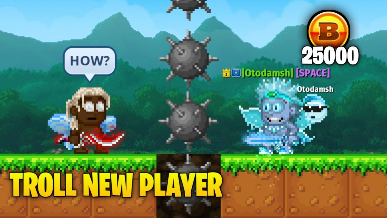 TROLL NEW PLAYER WITH BYTE COINS   PIXEL WORLDS