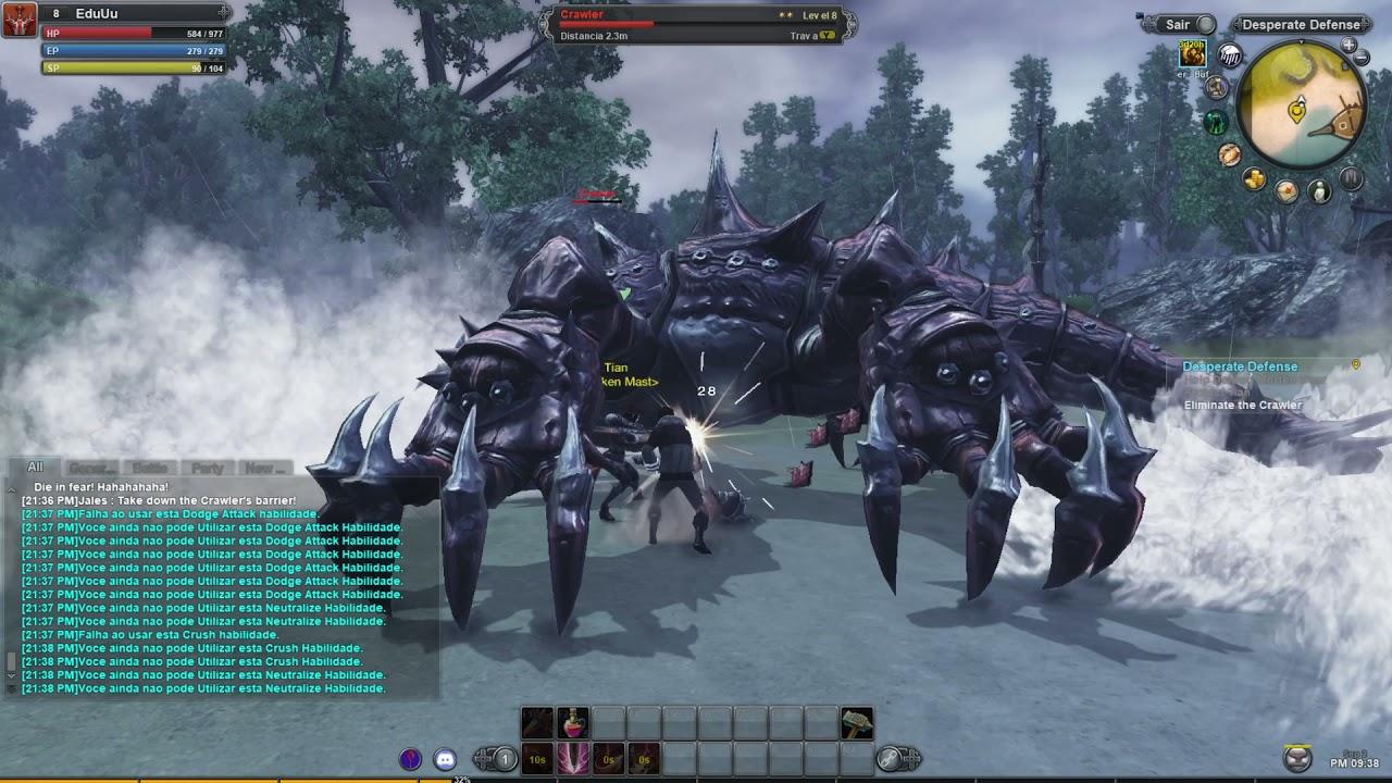 RaiderZ Legend - Broken Mast (War)  quest Desperate Defense Gameplay pt br
