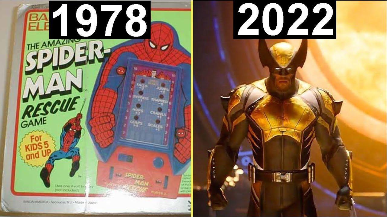 Evolution of Marvel games (1978-2022)