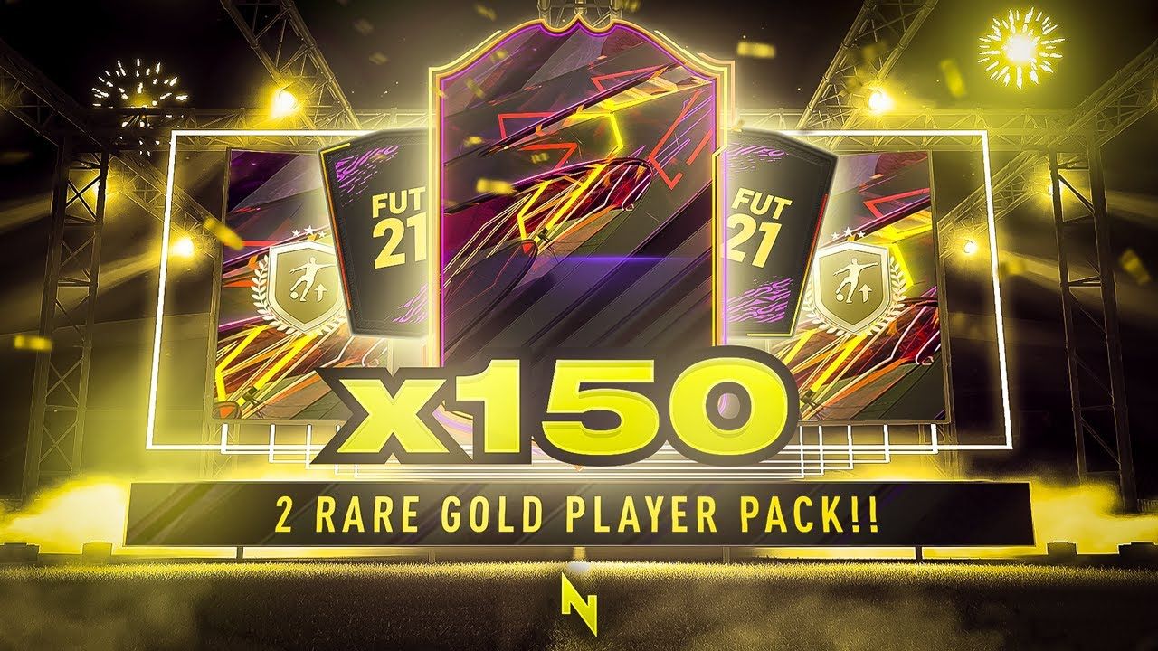 INSANE 150 x TWO RARE GOLD PLAYER PACKS! FIFA 21
