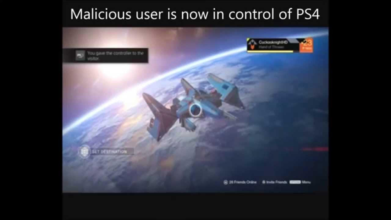 Destiny player loses characters during Share Play